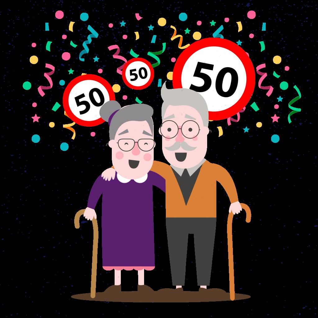 50 jaar sarah of abraham Wierden